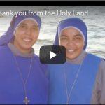 El vídeo de agradecimiento del Patriarcado Latino de Jerusalén