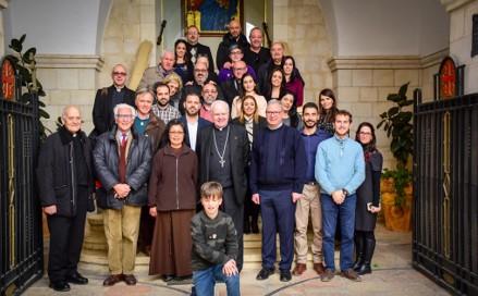 El encuentro del Equipo del Cardenal O'Brien y el Gran Magisterio con empleados del Patriarcado Latino en Jerusalen – Febrero 2019